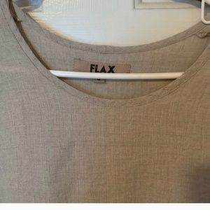 Flax natural linen top sz S